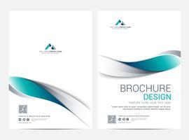 Broschüre Layoutvorlage, Flyer Cover Design Hintergrund vektor