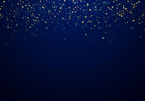 Abstrakt fallande guld glitter ljus konsistens på en mörkblå bakgrund med belysning.