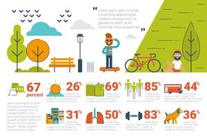 Parkkoncept Infografiska ikoner och element