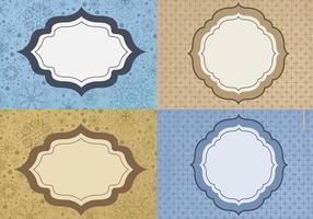 Blau und Goldweinlese-Rahmen-Vektor-Satz
