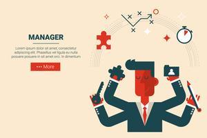 Projektmanagement-Konzept vektor