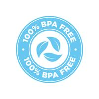 100% BPA Kostenlose Icons. vektor
