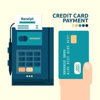 Kreditkarten Zahlung vektor