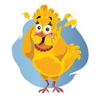 Erschrockene lustige Vektor-Karikatur der Türkei - Illustration des Erntedankvogels in der Panik