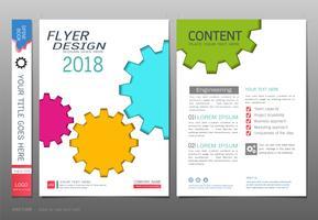 Abdeckungsbuchdesign-Schablonenvektor, Ganginformations-Grafikkonzepte. vektor