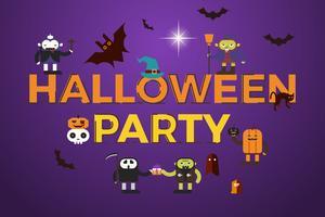 halloween party word design vektor