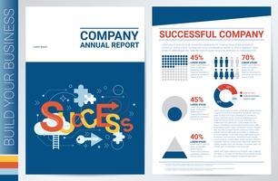 Framgångsrik företags bokomslagsmall vektor