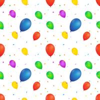 Ballon nahtlose Muster. Vektor-Illustration auf weißem Hintergrund. Design für Textilien, Tapeten, Stoffe.