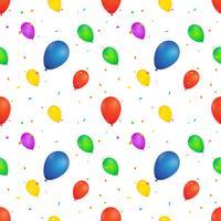 Ballong sömlöst mönster. vektor illustration på vit bakgrund. design för textil, tapeter, tyg.