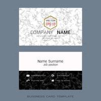 Moderne Designer Visitenkarten Layoutvorlagen. vektor
