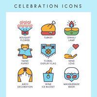 Celebration ikoner vektor