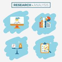 Forschungs- und Analyseikonenillustration