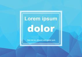 Blauer weißer polygonaler Mosaik-Hintergrund, Vektorillustration, kreative Geschäfts-Design-Schablonen