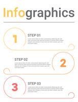 Infografik-Diagramm mit 3 Schritten, Optionen oder Prozessen. Vektorgeschäftsschablone für Darstellung. Visualisierung von Geschäftsdaten. vektor