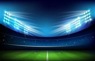 Fußballplatz mit Stadion 001 vektor