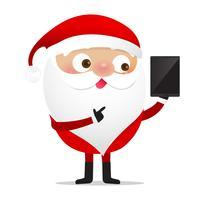 Glad jul karaktär Santa claus tecknad film 017 vektor