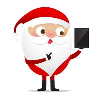 Glückliches Weihnachtscharakter Weihnachtsmann-Karikatur 017 vektor