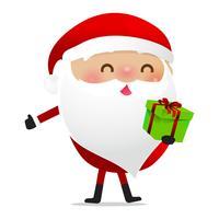 Glückliches Weihnachtscharakter Weihnachtsmann-Karikatur 025 vektor