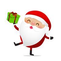Glückliches Weihnachtscharakter Weihnachtsmann-Karikatur 023 vektor