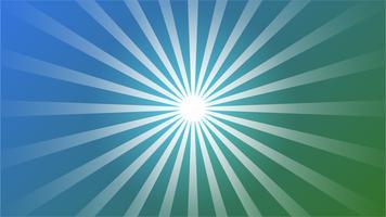 Abstrakter blauer Steigung Hintergrund mit Starburst Effekt. und Sunburst Strahlen Element. Sternexplosionform auf Weiß. Radiale kreisförmige geometrische Form.