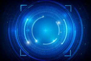 Abstrakter HUD-Technologiehintergrund 012