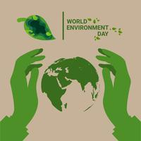 världs miljö dagen vektor