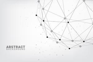 Abstrakter Technologiehintergrund. Geometrischer Vektorhintergrund. Globale Netzwerkverbindungen mit Punkten und Linien. vektor