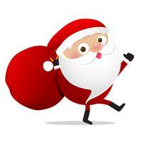 Glückliches Weihnachtscharakter Weihnachtsmann-Karikatur 026 vektor