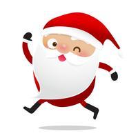 Glückliches Weihnachtscharakter Weihnachtsmann-Karikatur 020 vektor