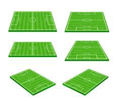 Grüner Fußballplatz auf weißem Hintergrund 002