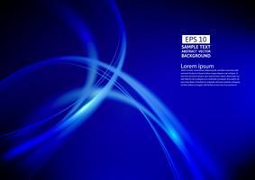 Blå färgvågor abstrakt bakgrundsdesign. vektor illustration