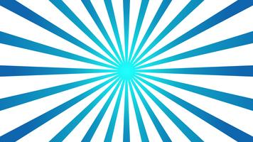 Abstrakter blauer Hintergrund mit Starburst Effekt. und Sunburst Strahlen Element. Sternexplosionform auf Weiß. Radiale kreisförmige geometrische Form.