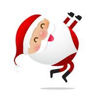 Glückliches Weihnachtscharakter Weihnachtsmann-Karikatur 021 vektor