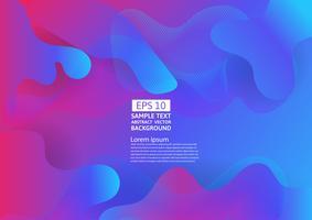 Färgrik flytande och geometrisk abstrakt bakgrund. Vätskegradient former komposition futuristisk design