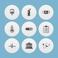 Reihe von medizinischen Icons. Vektor Illustrator.