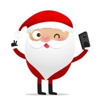 Glad jul karaktär Santa claus tecknad film 012 vektor