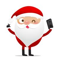 Glückliches Weihnachtscharakter Weihnachtsmann-Karikatur 012 vektor