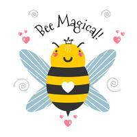 Biene magischen Vektor