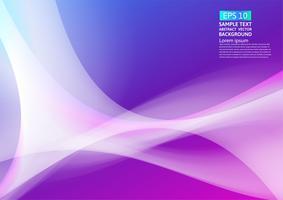 Geometrisches abstraktes Hintergrunddesign der bunten Wellen. Flüssige Steigung formt futuristisches Design der Zusammensetzung. Vektor-Illustration