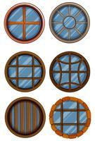 Olika design av runda fönster