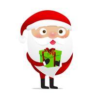 Glückliches Weihnachtscharakter Weihnachtsmann-Karikatur 013 vektor