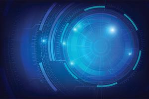 Abstrakter Hintergrund für futuristisches Konzept der Cybertechnologie auf der dunkelblauen Hintergrundvektorillustration