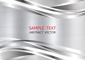 Metallische silberne Farbgeometrischer abstrakter Vektorhintergrund mit Kopienraum, Grafikdesign