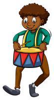 Man med en trumma
