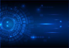 Digitaltechnik-Stromkreis-Zusammenfassungs-Hintergrund-Vektor-Illustration