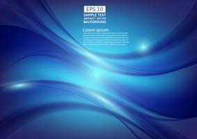 Blaue Farbe bewegt abstraktes Hintergrunddesign wellenartig. Vektor-Illustration