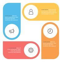 Infografik-Diagramm mit 4 Schritten, Optionen oder Prozessen. Vektorgeschäftsschablone für Darstellung. Visualisierung von Geschäftsdaten.