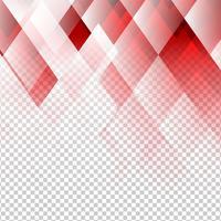 Geometriska element röd färg abstrakt vektor med transparent bakgrund