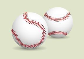 Realistischer Baseball-Vektor vektor