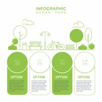 Business infographic. Infographics diagram med stadsstadsparklinjekonst. mall för presentation. konceptövning och slappna av. vektor